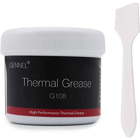 GENNEL G108 Thermal Compound Paste, 100g Large Serving, Heat Sink Paste, High Performance Thermal Grease Silicon for Coolers, Processor, CPU
