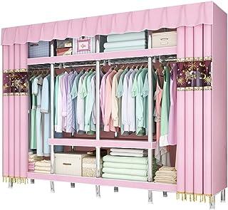 Grande Armoire de Stockage de Vêtements de Garde-Robe Portable, Montage Facile Support de Rangement de Vêtements Suspendus...
