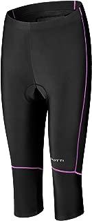 Spotti Women's ¾ Cycling Bike Pants, 3D Padded Cycling Tights with Zipper Pocket