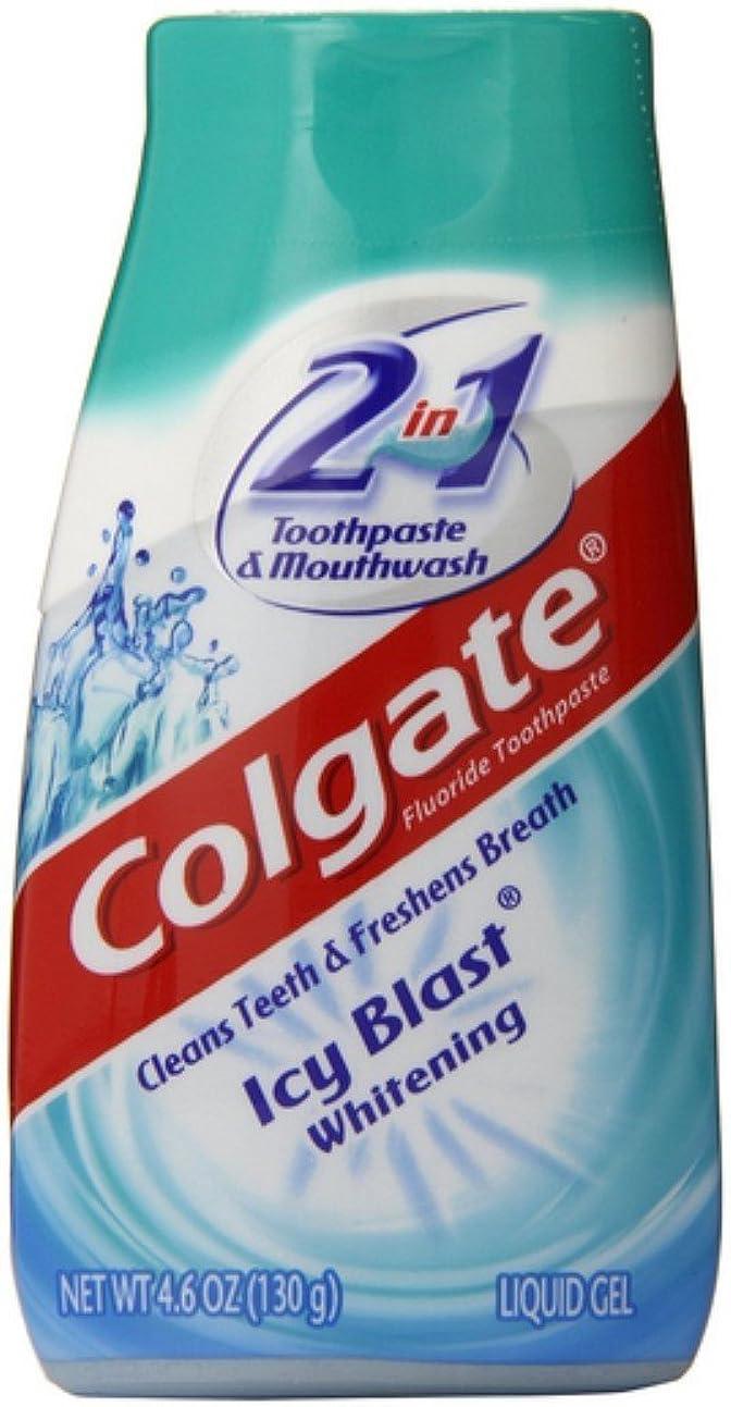 安全でない産地好みColgate 5 1ホワイトニング歯磨き粉アイシーブラストパックに2 5パック