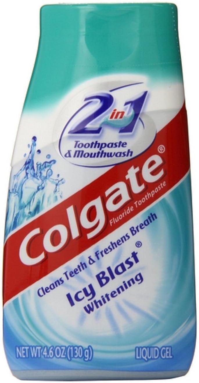 シャッフル記述する正確Colgate 5 1ホワイトニング歯磨き粉アイシーブラストパックに2 5パック