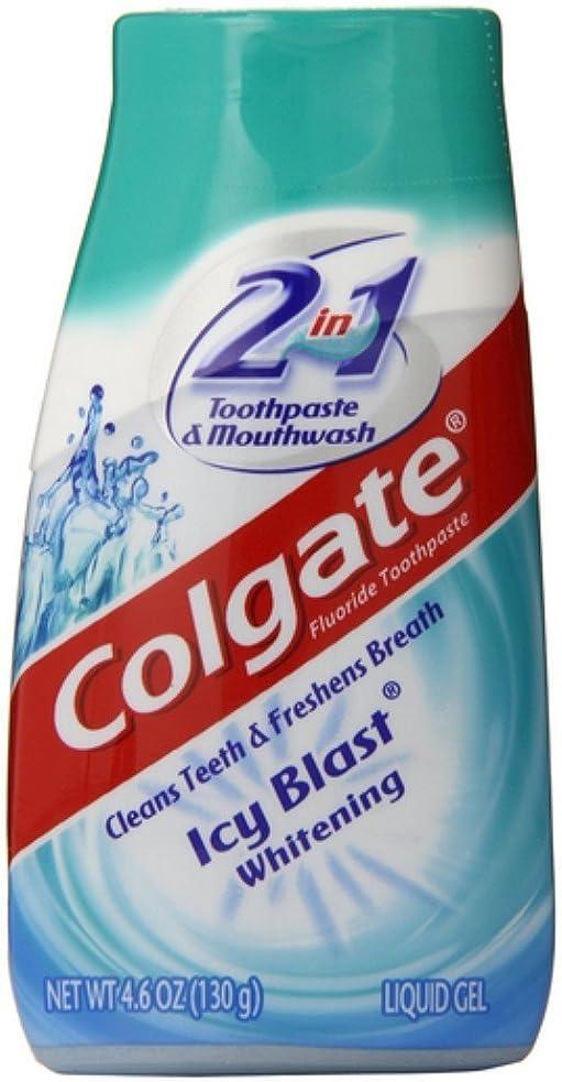 財産更新する圧縮されたColgate 5 1ホワイトニング歯磨き粉アイシーブラストパックに2 5パック