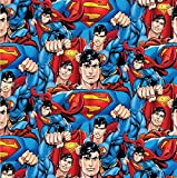 FS599 DC Superman Hero Poly Fleece Stretch auf hochwertigem