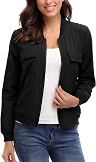 MISS MOLY Bomber Jacket Women Lightweight Zip-up Long Sleeve Biker Cycling Outfit with Pockets