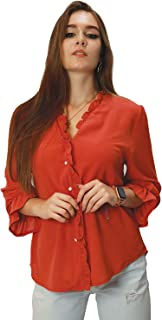 Kidwala Women's Tops, Tees & Blouses Button Up Long Sleeve Blouses Tops for Women