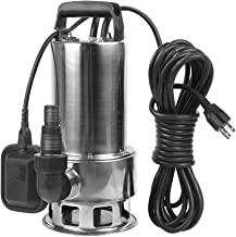 EXTRAUP 1.5HP 4250 GPH Stainless Steel Sump Submersible Clean Dirty Heavy Duty Drain Water Transfer Pump Pool Pond Flood Pump