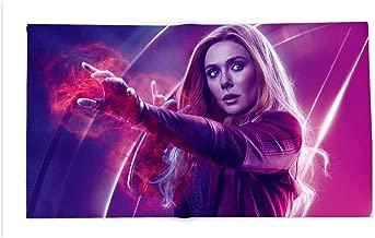 Yloveme Soft Lightweight Blanket Scarlet Witch Wanda maximoff Avengers Infinity war Elizabeth Olsen Custom Flannel Blankets