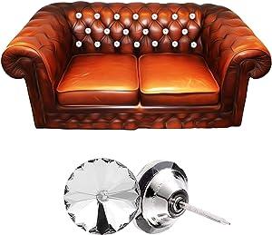 50 Pcs Diamond Crystal Upholstery Nails Tacks Sew Diamond Crystal Buttons Tacks Decorative Push Pins for Furniture Sofa Headboards Cork Board (20mm)