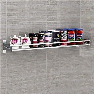 Storage rack Étagère de Cuisine Étagère à épices Murale en Acier Inoxydable 304 Étagère de Rangement Multifonction à Domic...