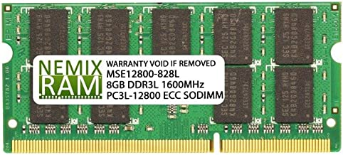 NEMIX RAM 8GB DDR3L-1600 2Rx8 SODIMM Memory for SUPERMICRO Motherboards