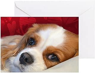 CafePress Blenheim Cavalier King Charles Spani Greeting Card, Note Card, Birthday Card, Blank Inside Glossy