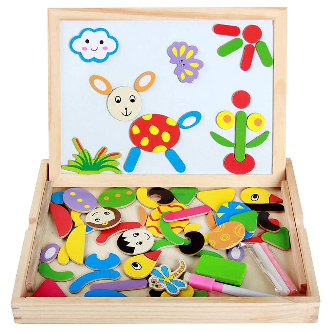堤防復活させる一定おもちゃのお絵かきボード 子供の黒板子供 ホワイトボード 木製パズルと想像力作図領域すべての子供のための絵ボード玩具男の子と女の子3 4 5 6 7 8歳子供のいたずら書きと落書きボード教育