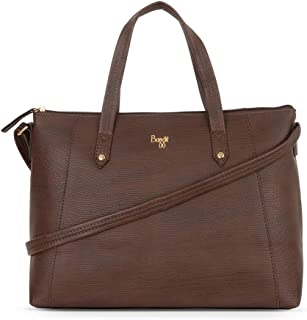 Baggit Women's Synthetic Tote Bag (Brown) (L Citrus)