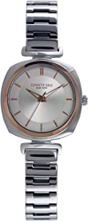 Kenneth Cole Women'S Silver Dial Stainless Steel Band Watch - Kc50188003