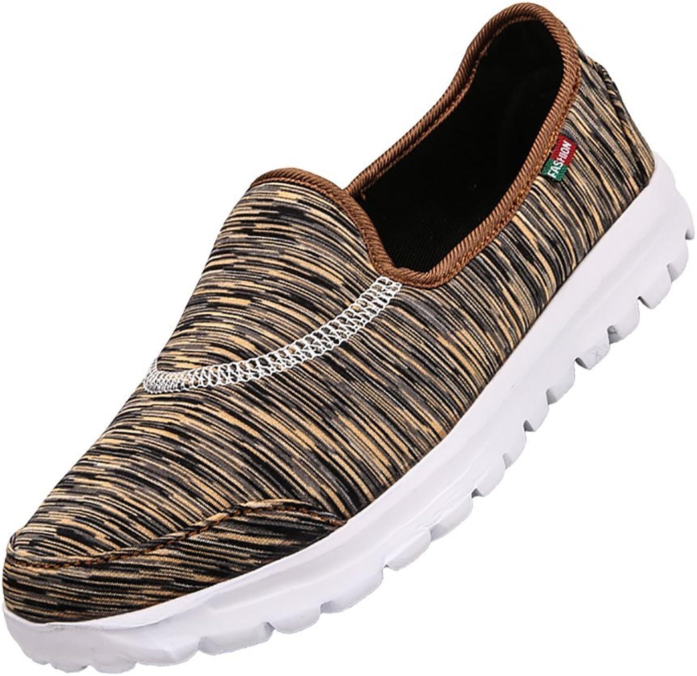 KUIBU Women Men Lightweight Sport Slip-On Platform Toning shoes Cloth Cover High Heel Sneaker Athletic