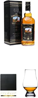 Famous Grouse 12 Jahre Gold Reserve 0,7 Liter  Schiefer Glasuntersetzer eckig ca. 9,5 cm Durchmesser  The Glencairn Glass Whisky Glas Stölzle 1 Stück