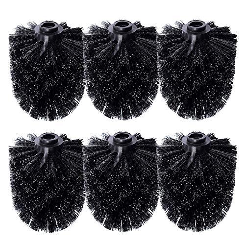 Schramm® 6 Stück WC Ersatzbürstenkopf schwarz Ersatzbürsten schwarzer Bürstenkopf einzeln wechselbar Black Toilettenbürste Toilettenbürsten Ersatztoilettenbürste Toiletten bürsten