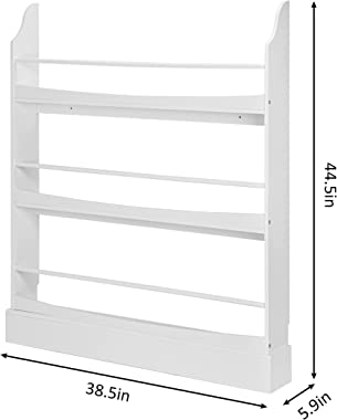 UTEX Kids Bookshelf,3 Tiers Children's Bookcases and Storage, Kids Bookcase Rack Wall for Bedroom,Study Living Room,White