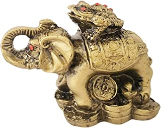 Divya Mantra Feng Shui King Money Toad Three Frog on Trunk up Elephant for Prosperity Financial Business Strength Success Good Luck