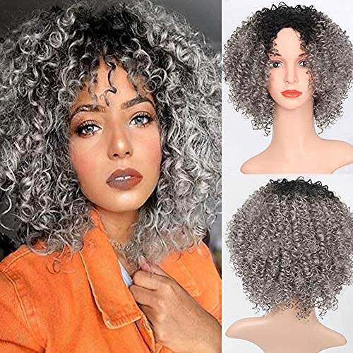 Lace Front Wig Half SimulationShort Curly Cosplay Wigs Women Party Show Natural Lace Front Wig Half Simulation Fashion Wig Synthetic Hair Synthetic Gr