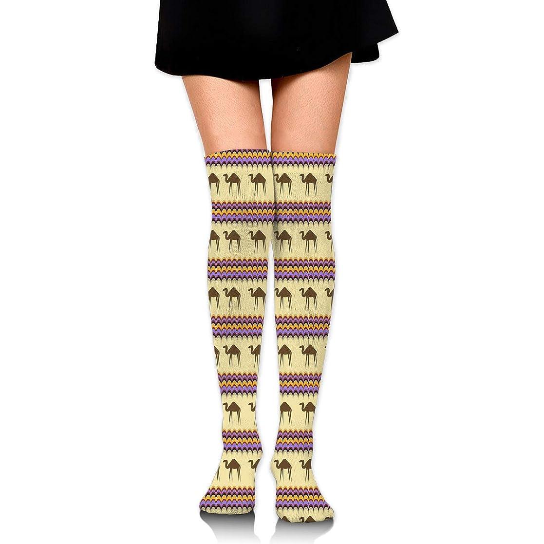 見ました優しい弱いMKLOS 通気性 圧縮ソックス Breathable Thigh High Socks Over Exotic Psychedelic Print Compression High Tube Thigh Boot Stockings Knee High Funny Watermelon Shark Mint Green Stockings Women Girl