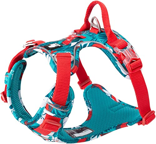 Chai's Choice Best Outdoor Adventure Dog Harness. 3M Reflective Vest Caution - Please Measure Dog Before Ordering! Matching Leash and Collar Available