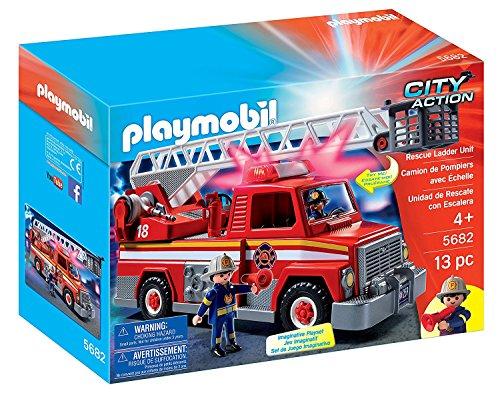 PLAYMOBIL (プレイモービル) レスキューはしご車 消防車 Rescue Ladder Unit 5682 [並行輸入品]