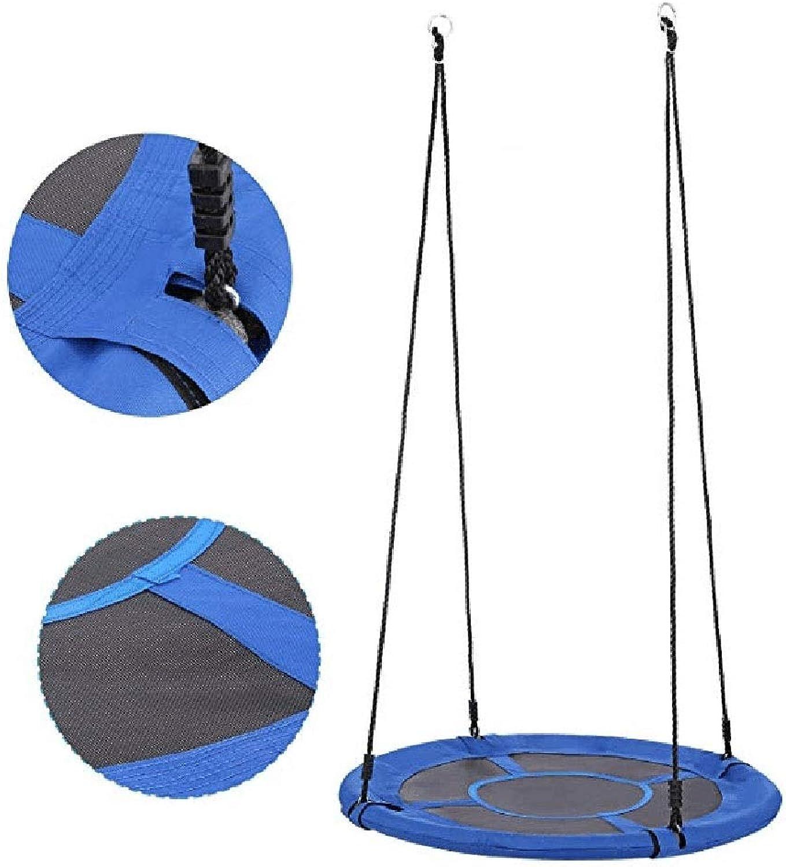 Nestschaukel YXX Kinder Saucer Baum Swings für Auen - 150kg Kapazitt, Durchmesser 80 cm, perfekt für den Spielplatz Hinterhof Im Freien hngenden Spiel (Farbe   Blau)