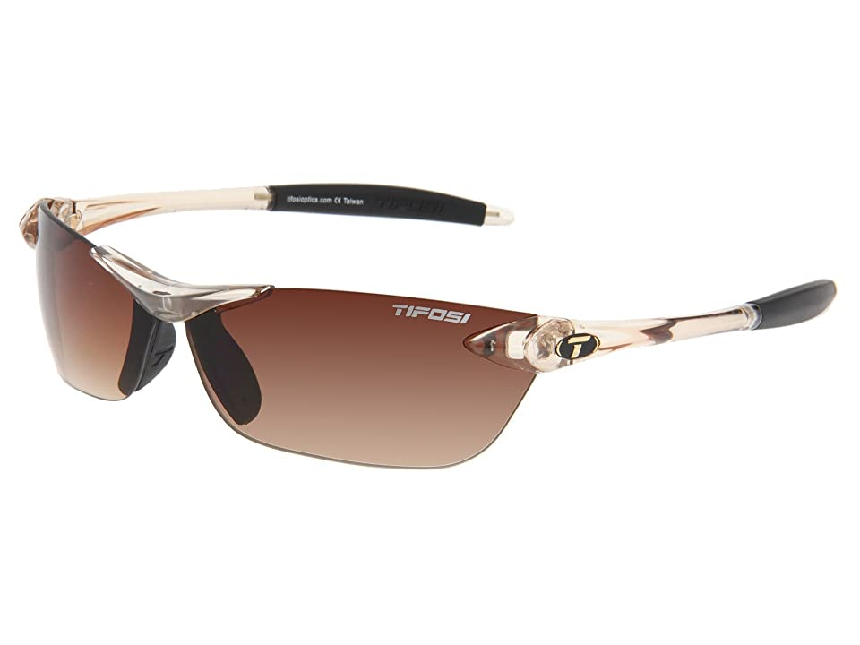 Tifosi Optics Seektm (Crystal Brown/Brown Gradient Lens) Athletic Performance Sport Sunglasses