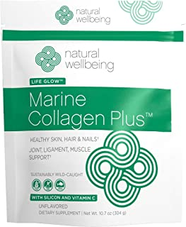Natural Wellbeing - Marine Collagen Plus - Sustainably Sourced Collagen for Supple Skin and Strong Hair & Nails - Hydrolyz...