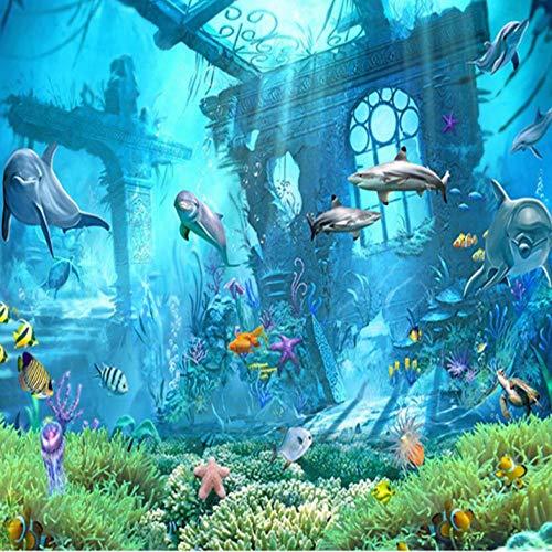 Wandaufkleber Wandbilder ,300 X 210 Cm ,Fototapeten, Wandbild, Motivtapeten, Vlies-Tapeten - Unterwasser Atlantis