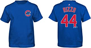 Majestic Anthony Rizzo Kids Chicago Cubs Blue Name and Number Jersey T-Shirt