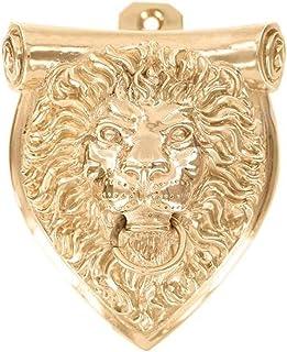 Vicenza Designs DK9000 Sforza Lion Door Knocker, Polished Gold