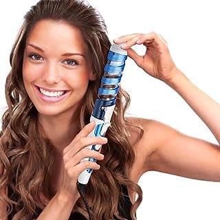 SexyBeauty Professional Portable Hair Salon Spiral Curl Waver Maker Ceramic Curling Wand Iron Hair Curler (sky blue)