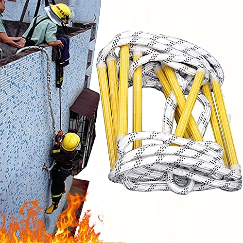 iksvmsis Rope Ladder Fire Escape 3-4 Story, Rope Ladder Fire Escape for...