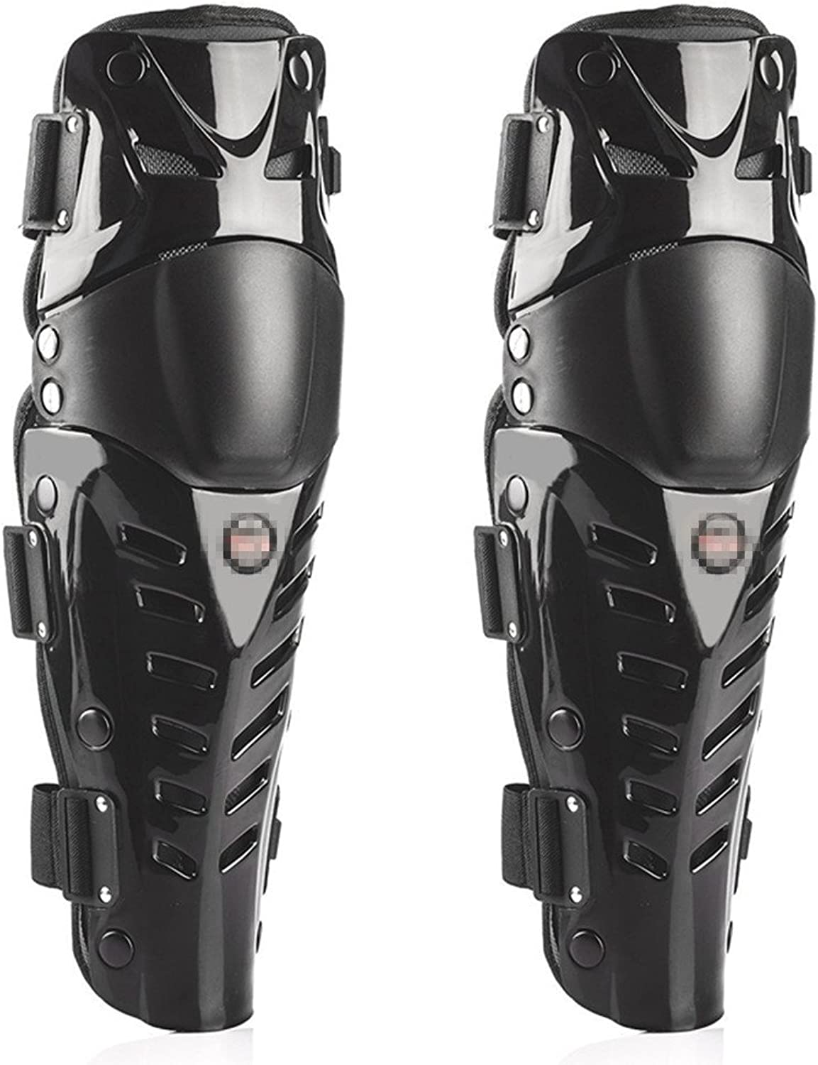 Baselay 1 Pair of Motorcycle Knee Shin Guard Pads Three Sections Breathable Adjustable Knee Cap Pads Predector Gear Armor for Adults Motorcycle Cycling Racing