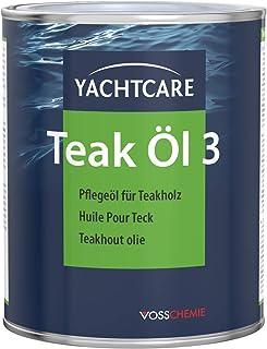 Yachtcare Teak Öl 1L - langlebiges Holzöl mit UV-Schutz zum Schutz vor Vergrauung und Pflege von Teak Holz und Anderen Hölzern