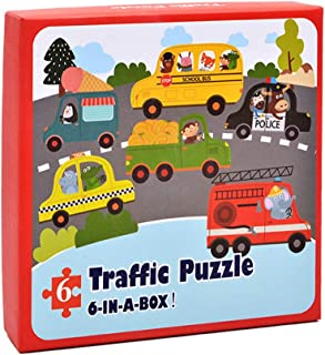 Cute Animal Transportation Car Wooden Puzzle Board Early Childhood Educational Educational Toys, Educational, Early Development, Sport, Indoor Toysfor Ages 2, 3, 4, 5 Years Old, Children, Toddlers