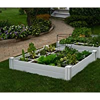 Vita Gardens VT17104 Vita Bed With GRO 48in x 7.5in Garden with Grid (7.38