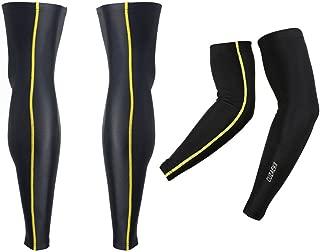 Cuzaekii Compression Cycling Arm&Leg Warmers MTB Bike Running Basketball Soccer Leggings Sports Clothing for Men Women