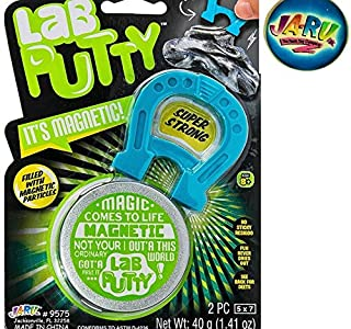 JA-RU Lab Putty It's Magnetic & Bouncy Plus one Exclusive Bouncy Ball | Item #9575-1p