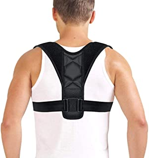 CORRECTY Posture Corrector for Men and Women - USA Designed Upper Back Brace for Shoulder Neck & Upper Back Pain Corrects Slouching,Hunching & Bad Posture,Clavicle Support Adjustable Brace