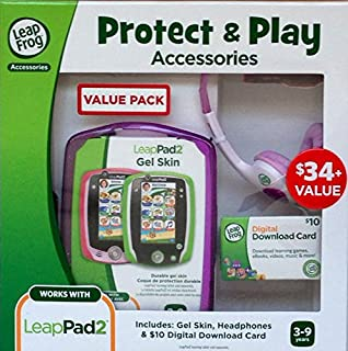 Leap Frog Protect & Play Accessories for Leappad2 ($10 Download card, Pink Gel Skin & headphones)