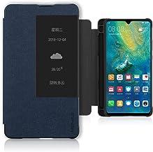Funda para Huawei Mate 20X (5G), PC + funda de piel sintética con ranura para lápiz M, a prueba de golpes, carcasa protectora de cuerpo completo para Huawei Mate 20 X (5G), color azul