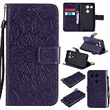 Jeewi Hülle für LG/Google Nexus 5X Hülle Handyhülle [Standfunktion] [Kartenfach] [Magnetverschluss] Tasche Etui Schutzhülle lederhülle flip case für LG Nexus 5X - JEKT031493 Violett
