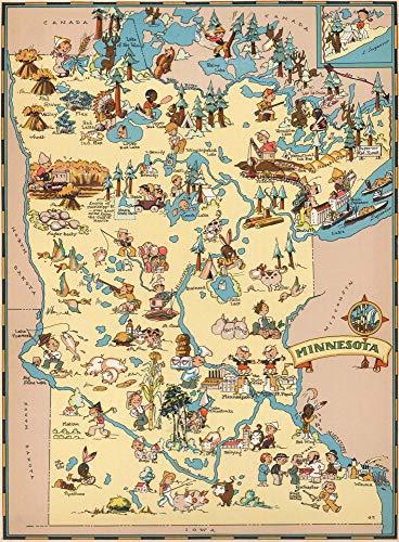 Q&K Puzzle 1500 Teile Puzzel Für Erwachsene Kind Puzzles Jigsaw Puzzle Game Toys Geschenk - Karte Von Minnesota