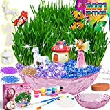 Catcrafter Fairy Garden Craft Kit for Kids - Unicorn Grow Light Terrarium Kit Plant Accessories Gardening Craft Set Arts and Crafts STEM Project Unicorns Gifts for Girls Toddlers Kids Ages 5 6 7 8 9+