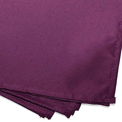 douceur d'intérieur 3 serviettes de table 40x40 cm essentiel prune