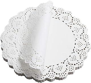 Paper Doilies, McoMce 100 Pieces Doilies Paper, Lace Doileys Paper Round Decorative Paper Placemats Bulk for Desert, Table...
