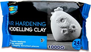 Artoys Air Dry Clay,Modelling clay White 1KG,Sculpting,Moulding,Preshool toys,Pretend play,school craft supplies